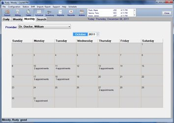 123 The Monthly Schedule